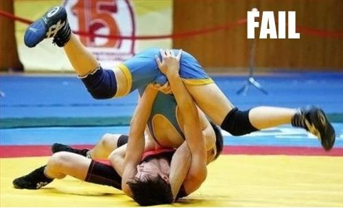 epic wrestling fail