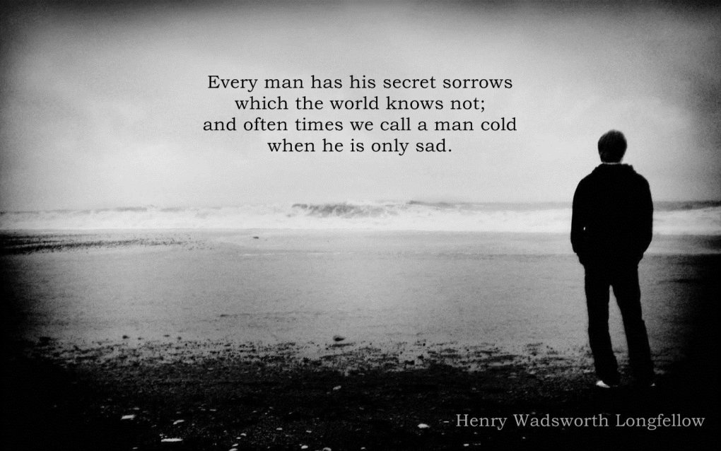 every man his secret sorrows henry wadsworth longfellow