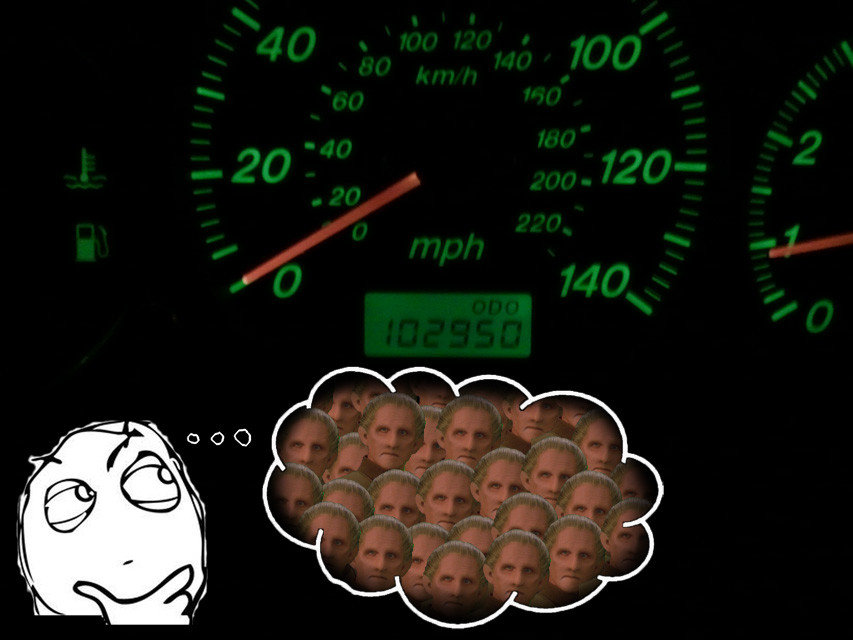 every time look odometer