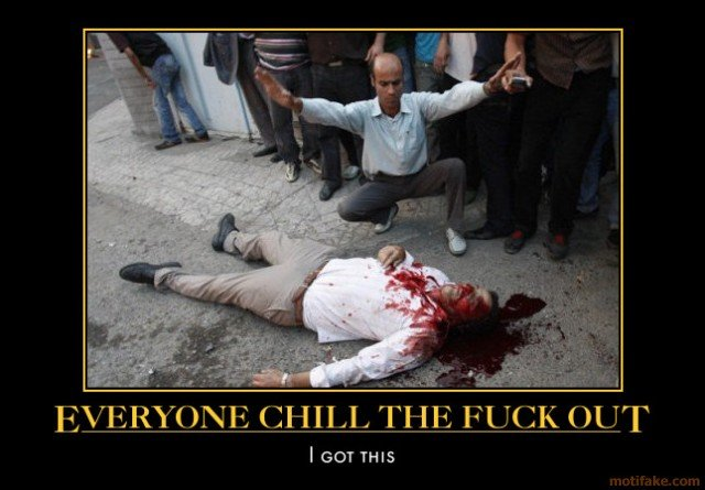 everyone chill out whats doc demotivational poster