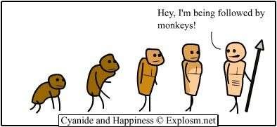 evolution - cyanide and happiness 3
