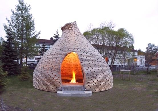 exciting cool outdoor fireplace for your garden hagen zohar