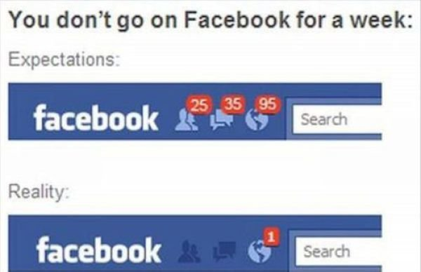 facebook - expectations vs reality