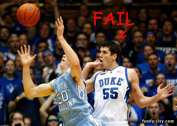 fail basketball pose