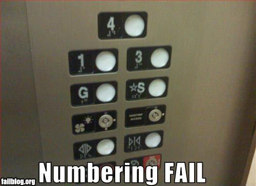 fail owned numbering fail
