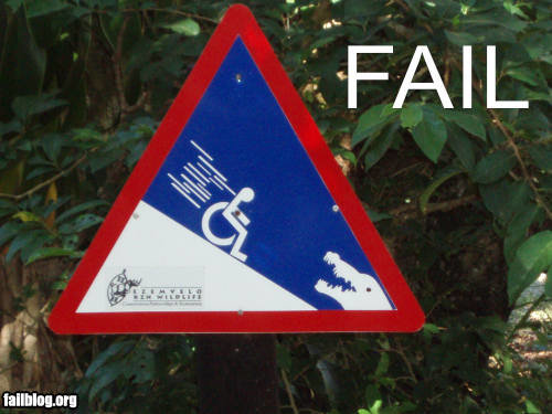 fail owned sign