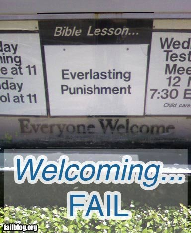 fail owned welcoming bible lesson fail