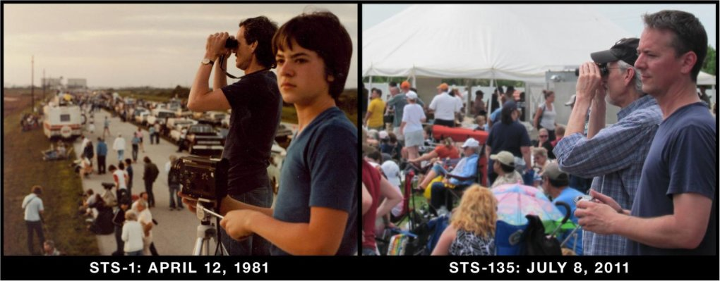 father amp son first amp space shuttle launch years apart