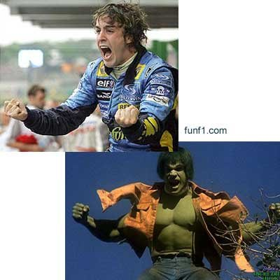 fernando alonso incredible hulk