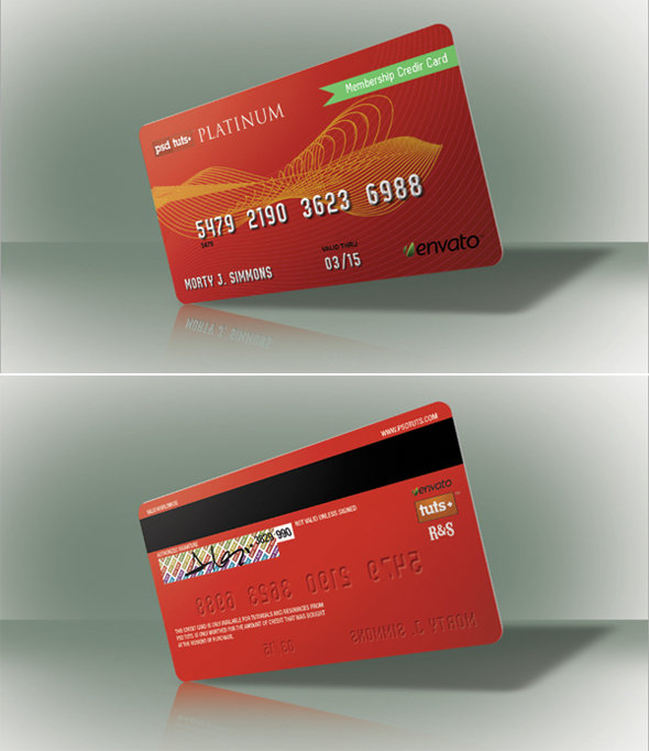 final - how to create a realistic credit card in photoshop
