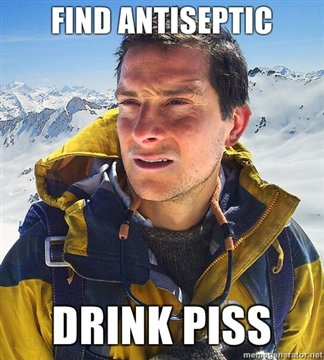 find antiseptic drink piss