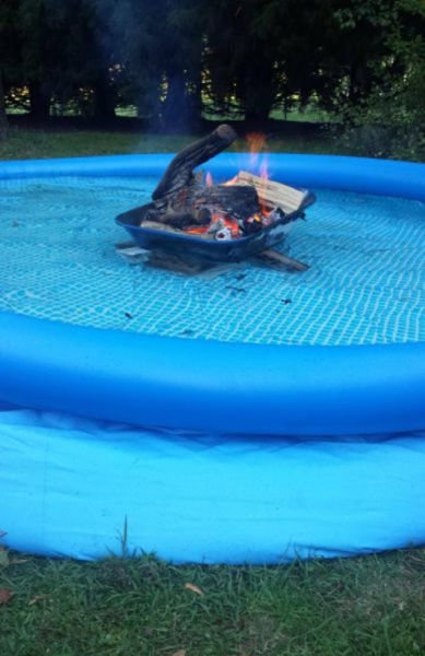 fire swimming pool