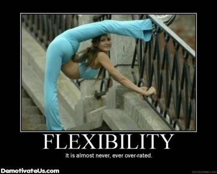 flexibility sexy stretch demotivational poster