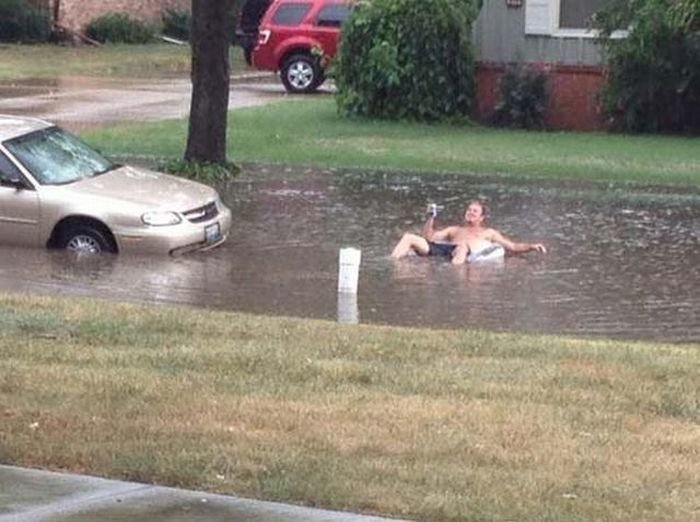 flooded street funny
