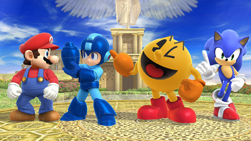 four iconic characters together for epic smash game
