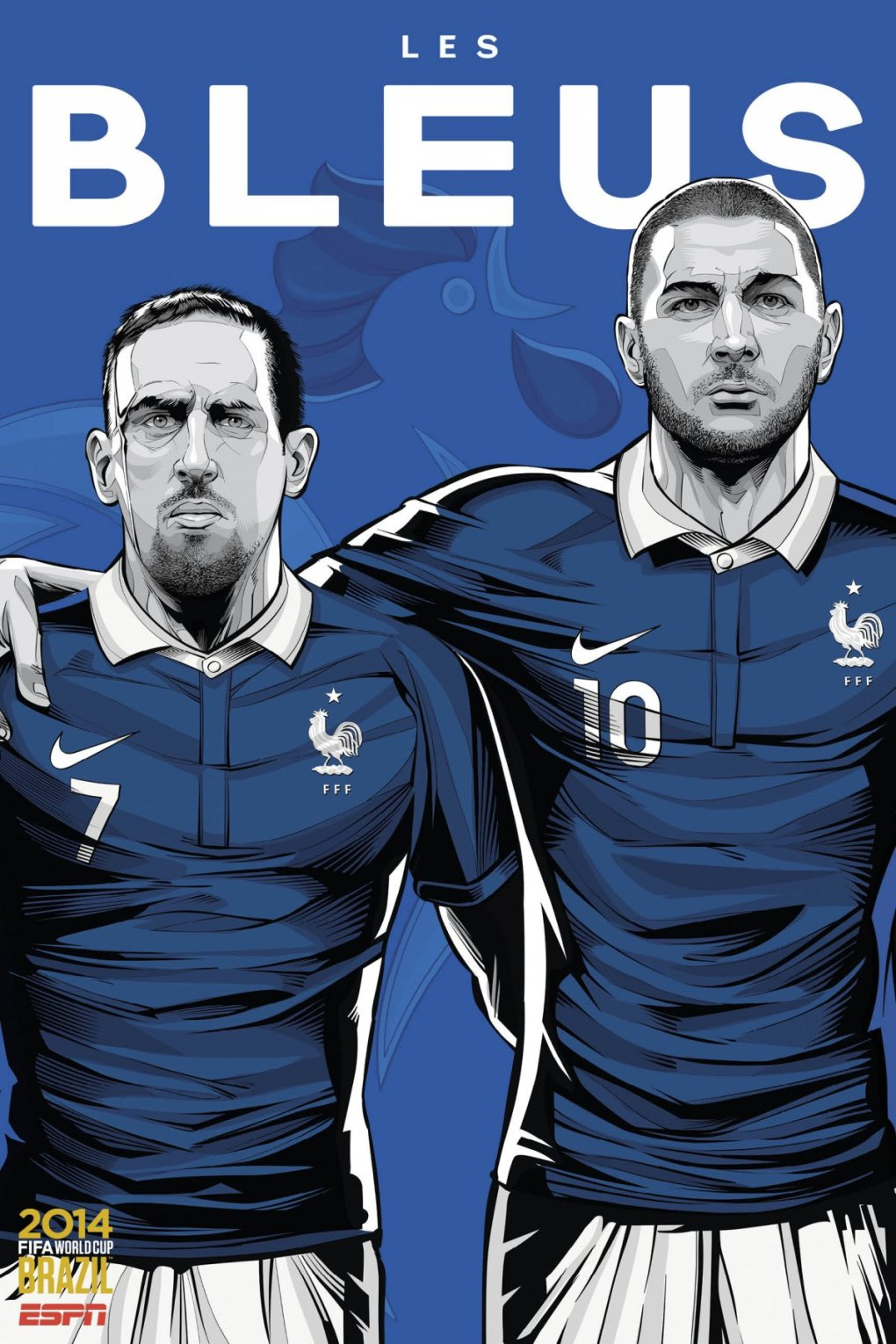 france - world cup 2014 team posters