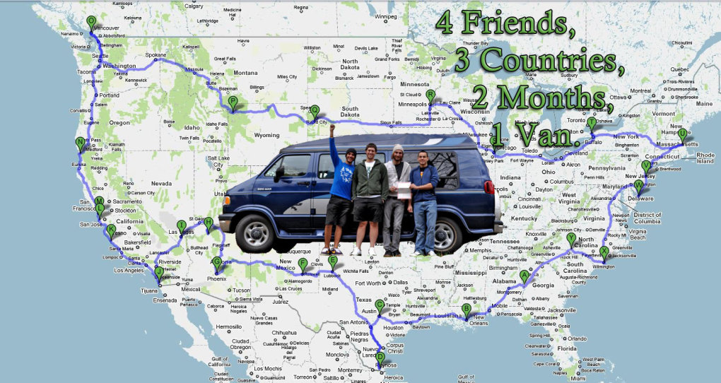 friends are embark road trip around country after college graduation days