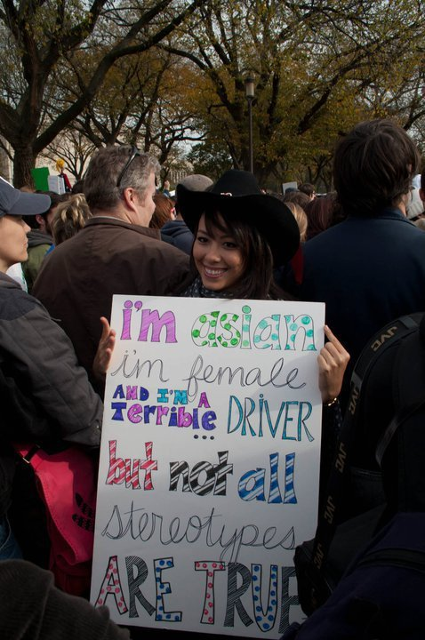 friends sign made her quite popular rally