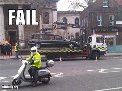 funeral towing fail