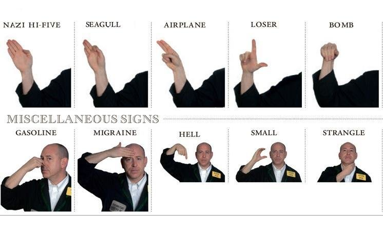 funny - need to know hand signs