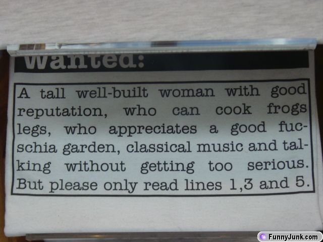 funny - wanted