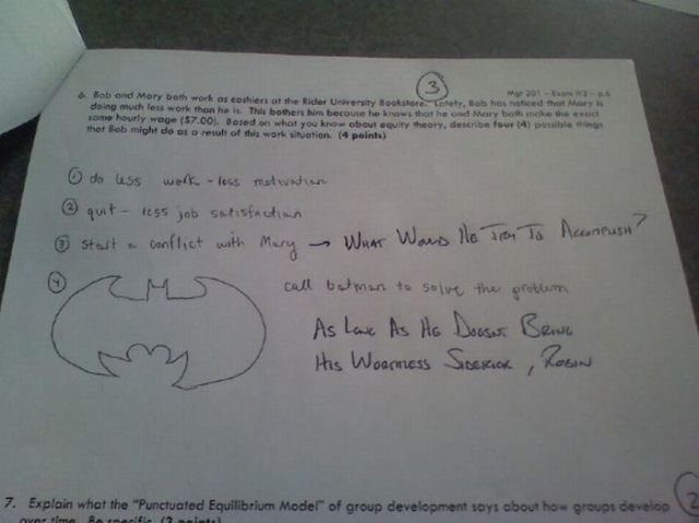 funny answers test questions