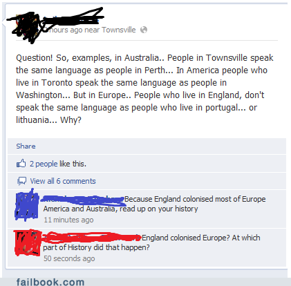 funny facebook fails thought americans bad geography