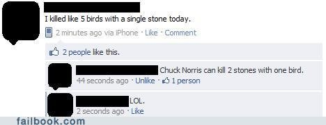 funny facebook fails chuck not impressed
