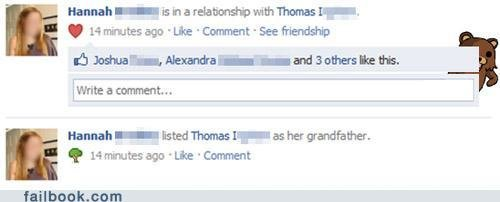 funny facebook fails guess shes into older guys