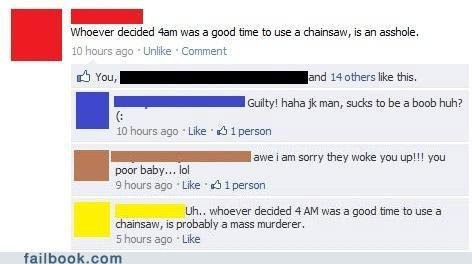 funny facebook fails morning woodcutting