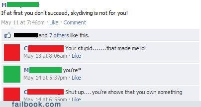 funny facebook fails your wrong