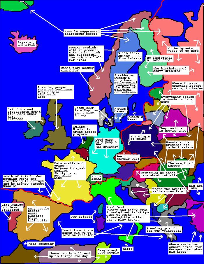 funny map europe