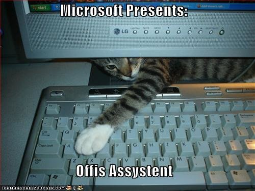 funny pictures cat keyboard microsoft assistant