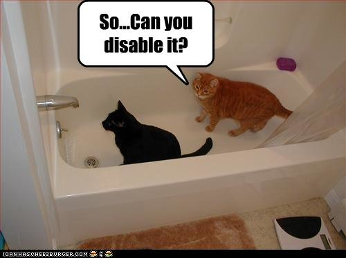 funny pictures cats try disable faucet