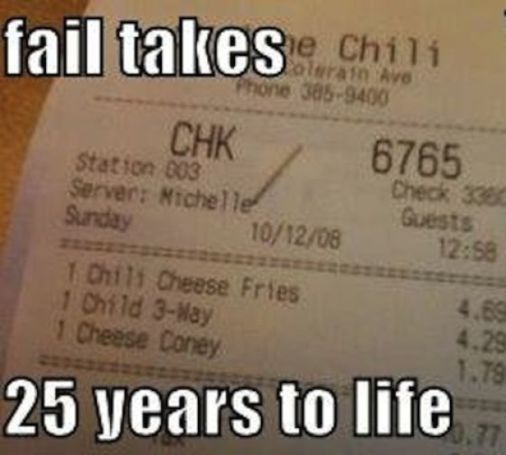 funny receipts