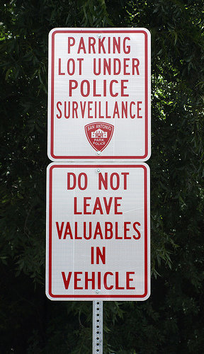 funny sign police