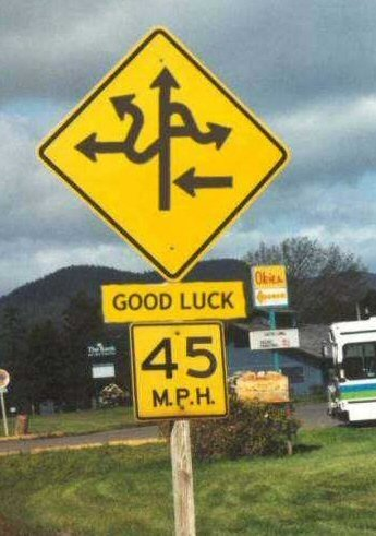 funny signs good luck sign