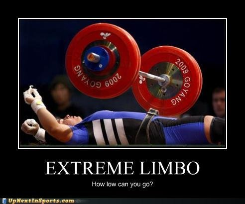 funny sports pictures extreme limbo