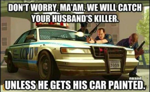 funny video game logic gta painted