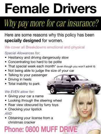 funny 863 - female drivers insurance
