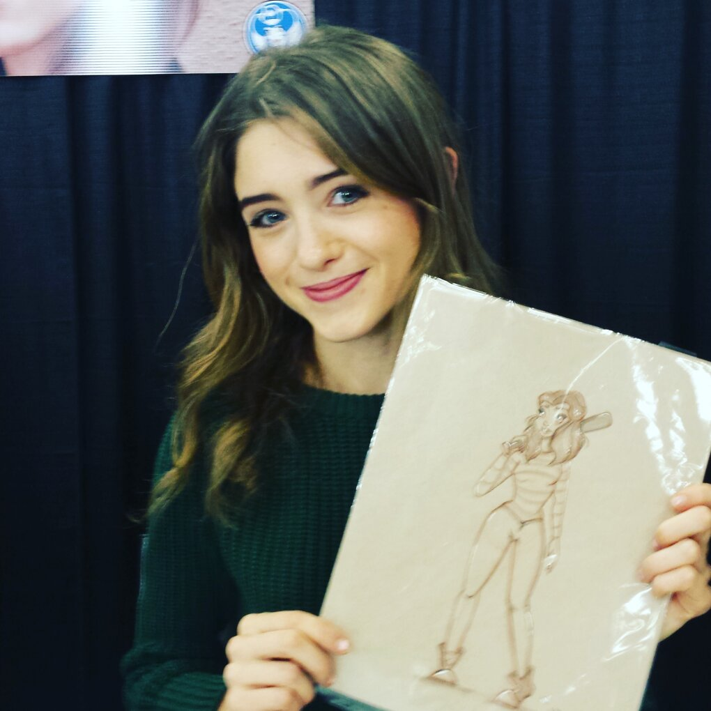 gave natalia dyer sketches yesterday