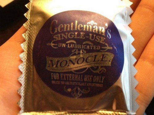 gentlemancondom3 - a gentleman should never leave home without it