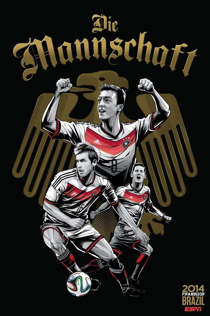 germany - world cup 2014 team posters