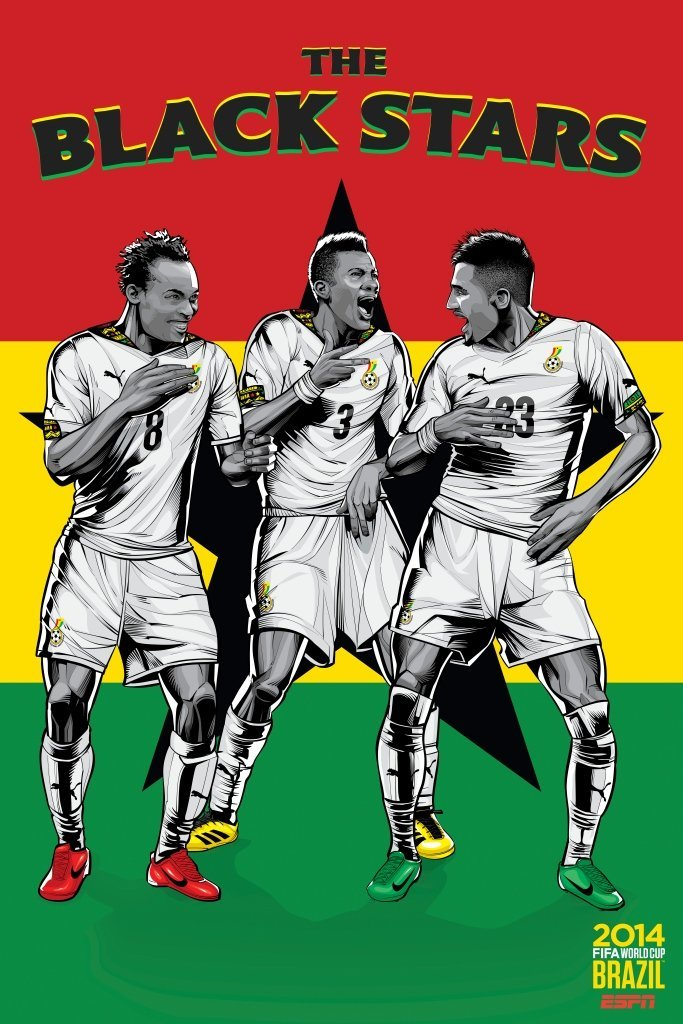 ghana - world cup 2014 team posters