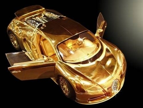 gold veyron toy
