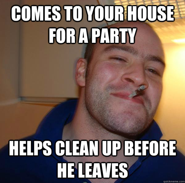 good guy greg party