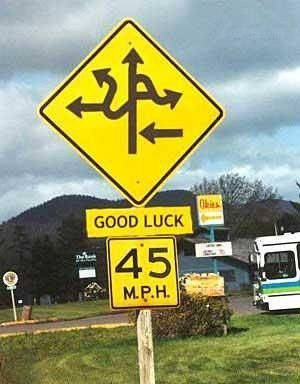 goodluckroadsign signs