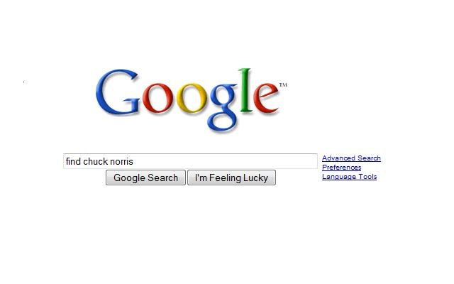 google - where are you chuck norris?