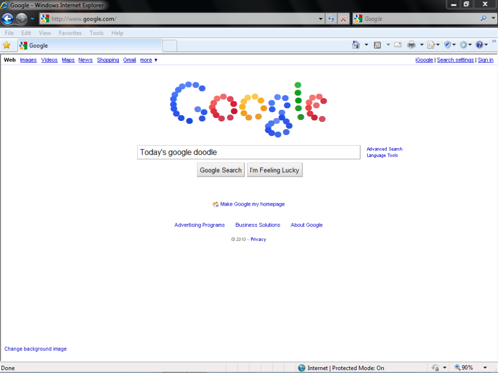 google1 - today's google doodle