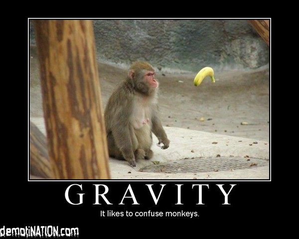 gravity - yet another motivational poster post